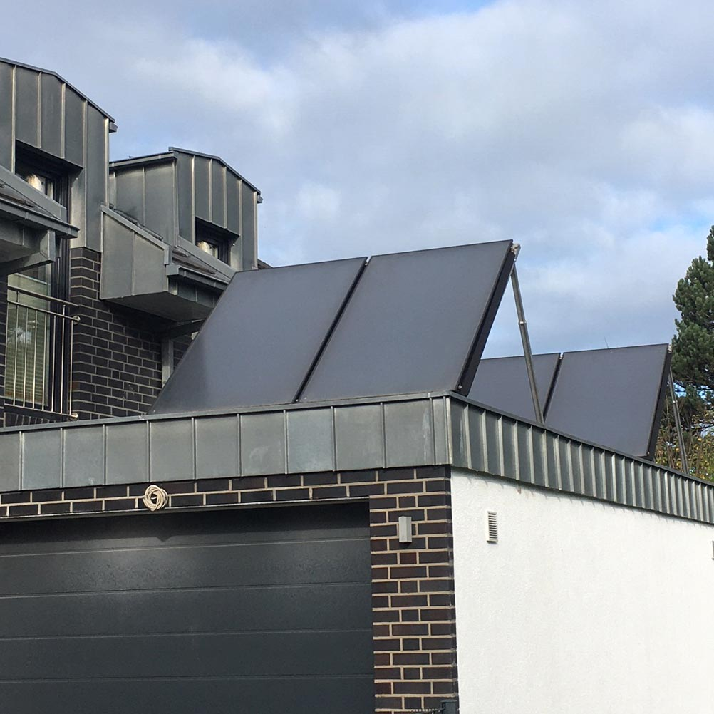 Thermische Solaranlage zur Warmwasserbereitung und Heizungsunterstützung in Kamen Süd
