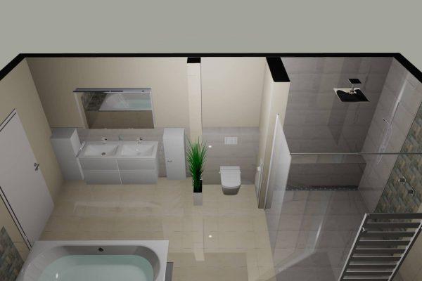18 Qm Wellness Badezimmer 3D-Planung