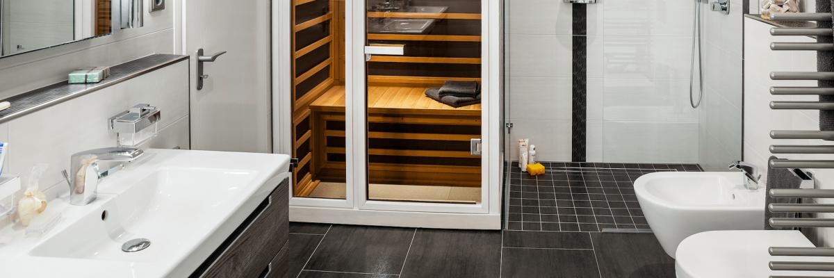 Infrarotkabine und ebenerdige Dusche in Kamen Methler